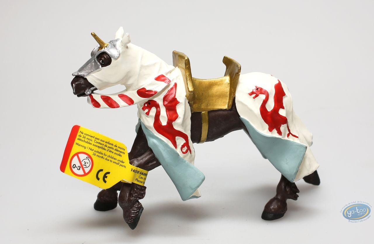 Figurine plastique, Cheval robe aux dragons