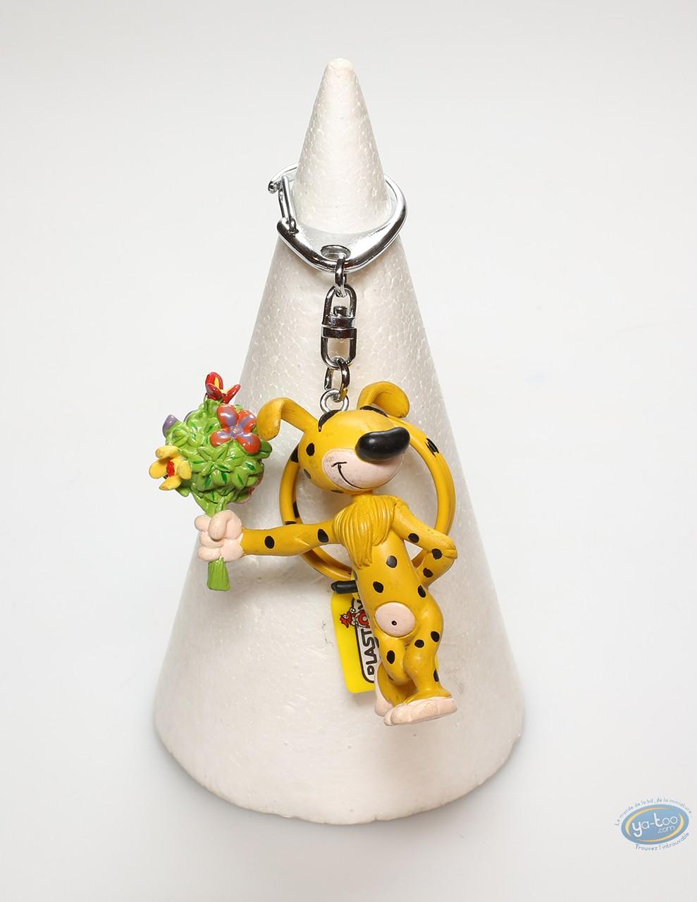 Porte-clé PVC, Marsupilami (Le) : Marsupilami portant un bouquet de fleur