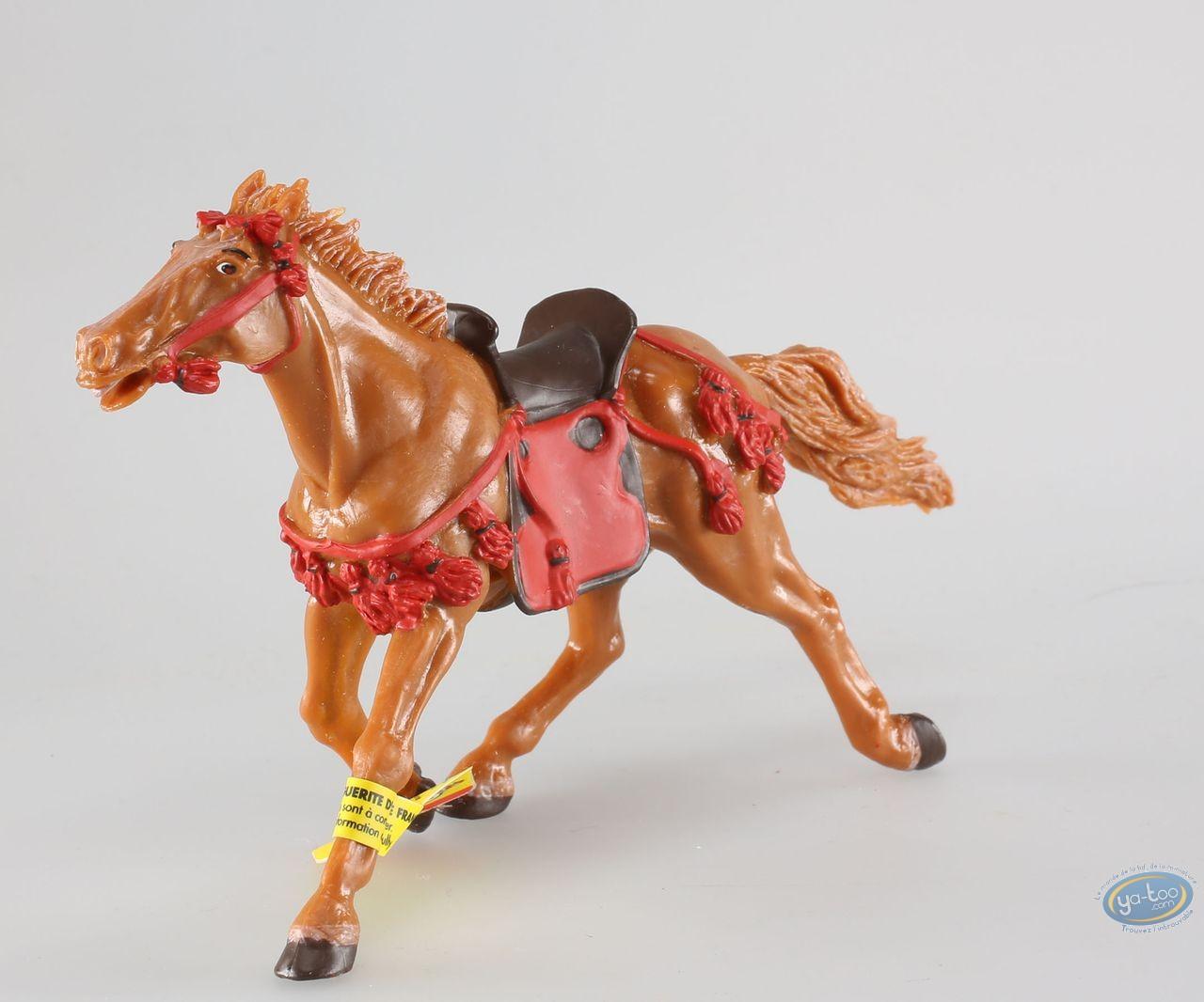 Figurine plastique, Samouraï : Cheval fauve arnachement rouge