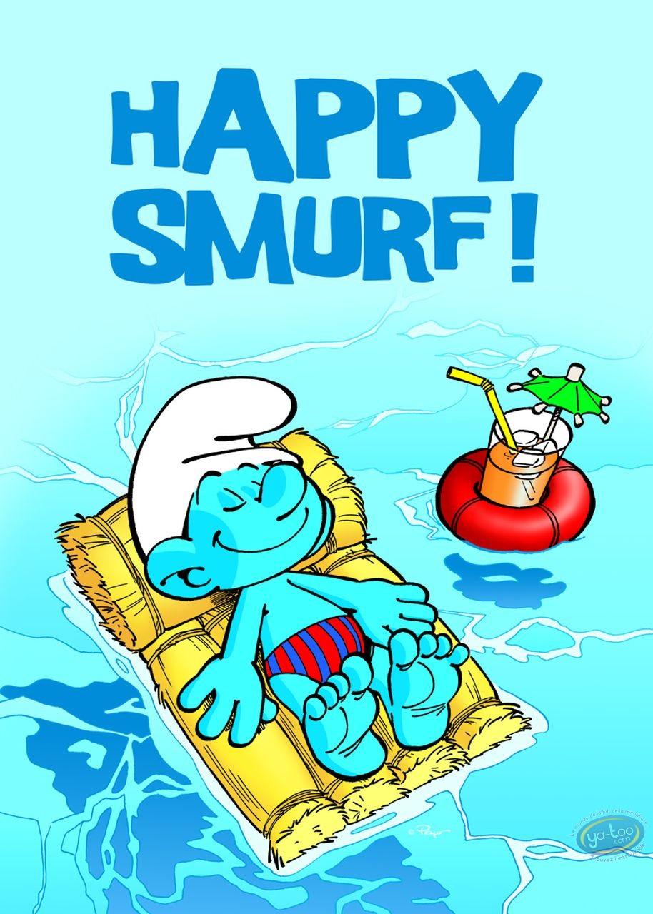 Affiche Offset, Schtroumpfs (Les) : Happy Smurf