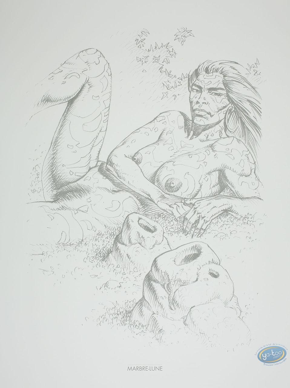 Affiche Offset, Amazones : Marbre-Lune