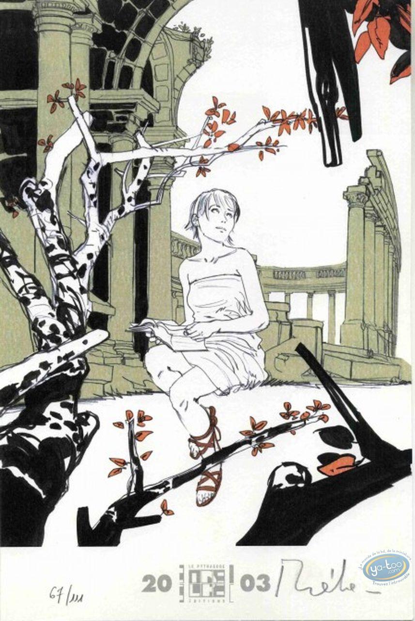 Ex-libris Offset, Chimères : Femme lisant