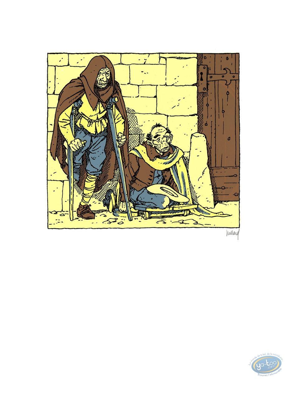 Affiche Sérigraphie, Quelque Chose de Bleu : Mendiants