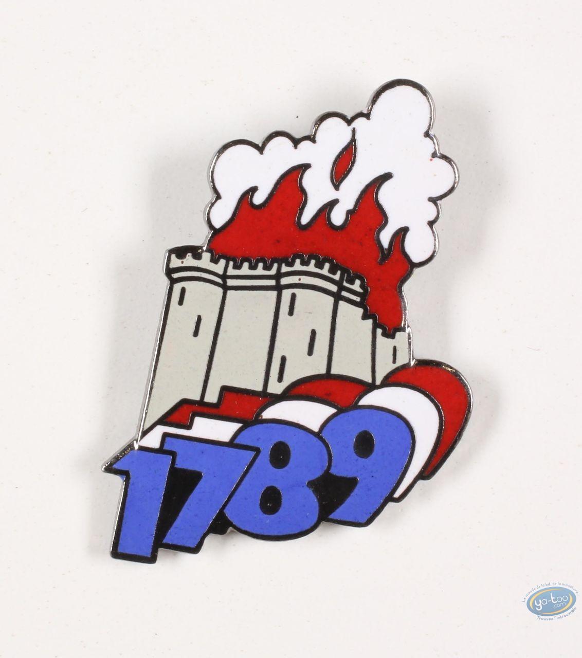 Pin's, 1789, la révolution Française : 1789, la Révolution Française, la bastille en feu !