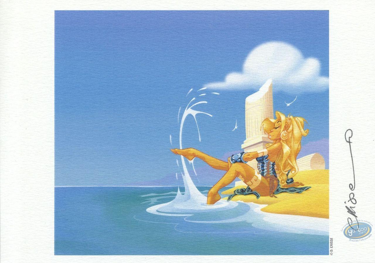 Ex-libris Offset, Atalante : Atalante au bord de la mer