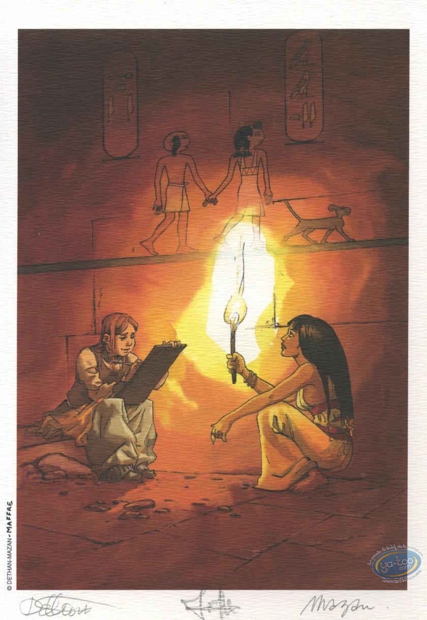 Ex-libris Offset, Khéti, fils du Nil : Dethan - Mazan, Dessin