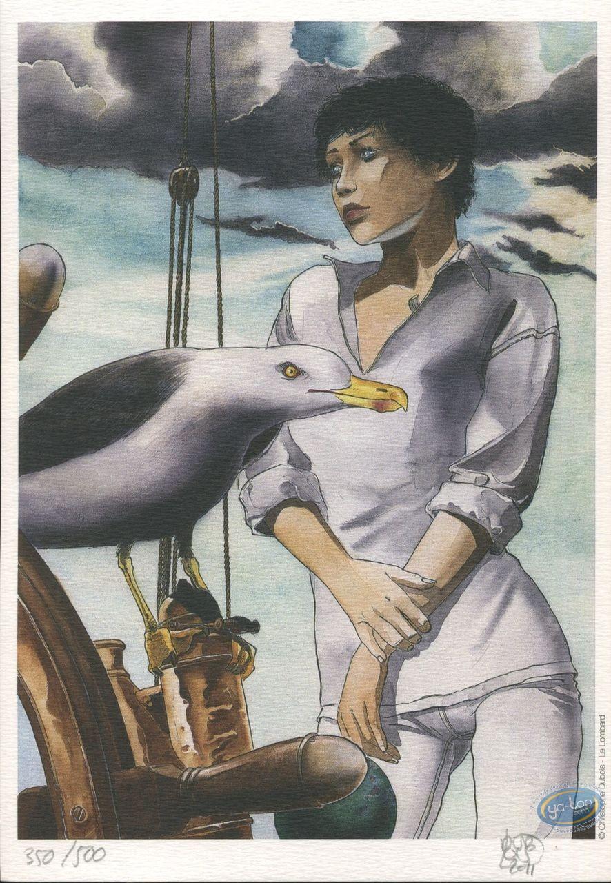 Ex-libris Offset, Cycle d'Ostruce : Femme et mouette