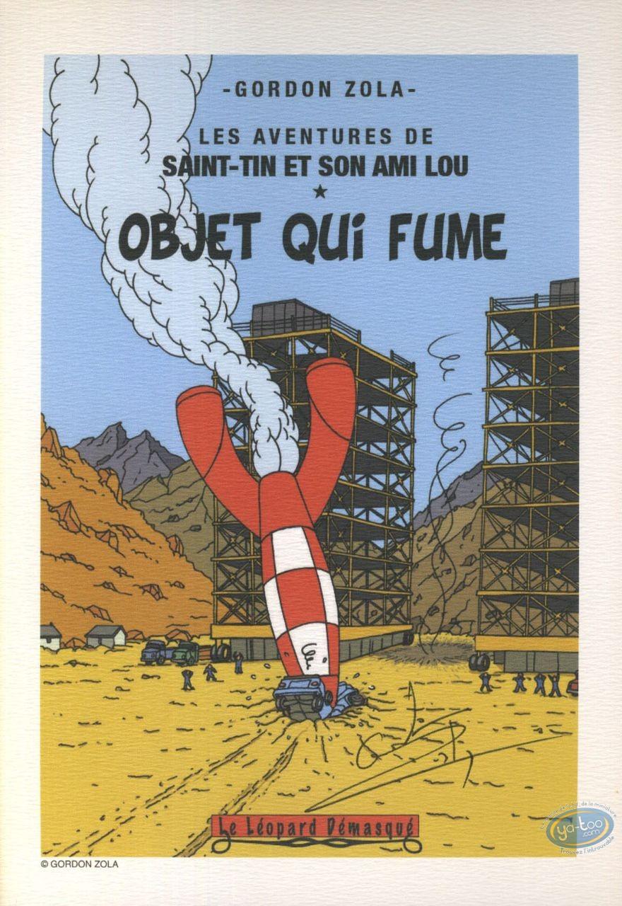 Ex-libris Offset, Tintin : Objet qui Fume
