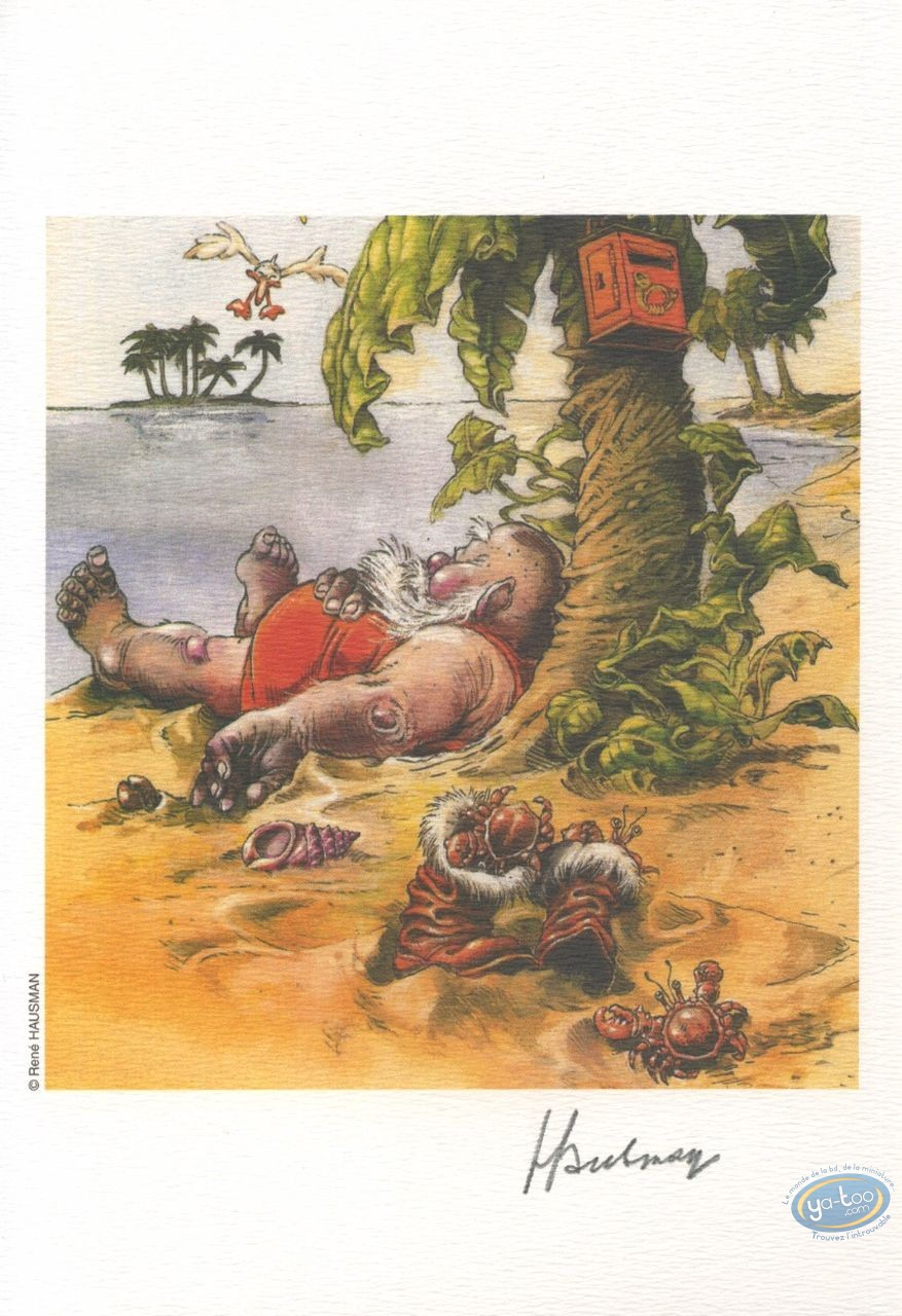 Ex-libris Offset, Hausman : Hausman, La Plage