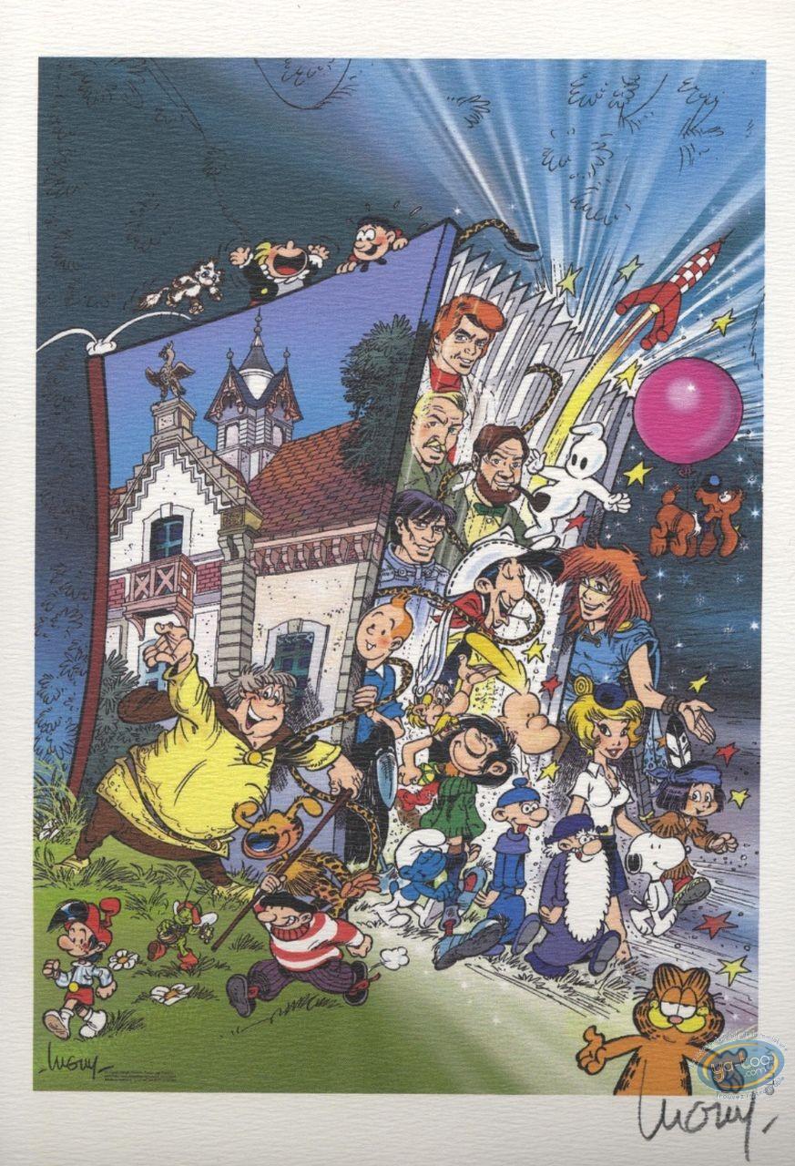 Ex-libris Offset, Luguy, Hommage à la BD
