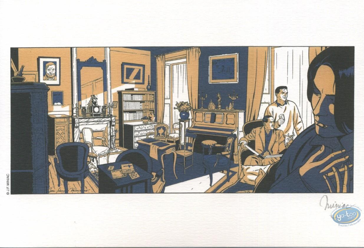 Ex-libris Offset, Miniac, Le salon