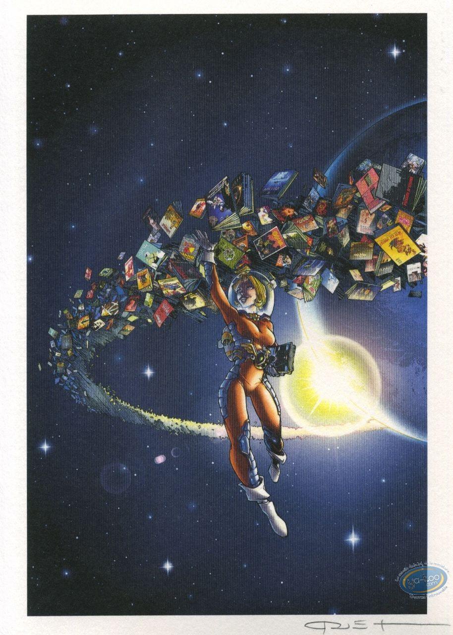 Ex-libris Offset, Pin-Up : Hommage à la BD