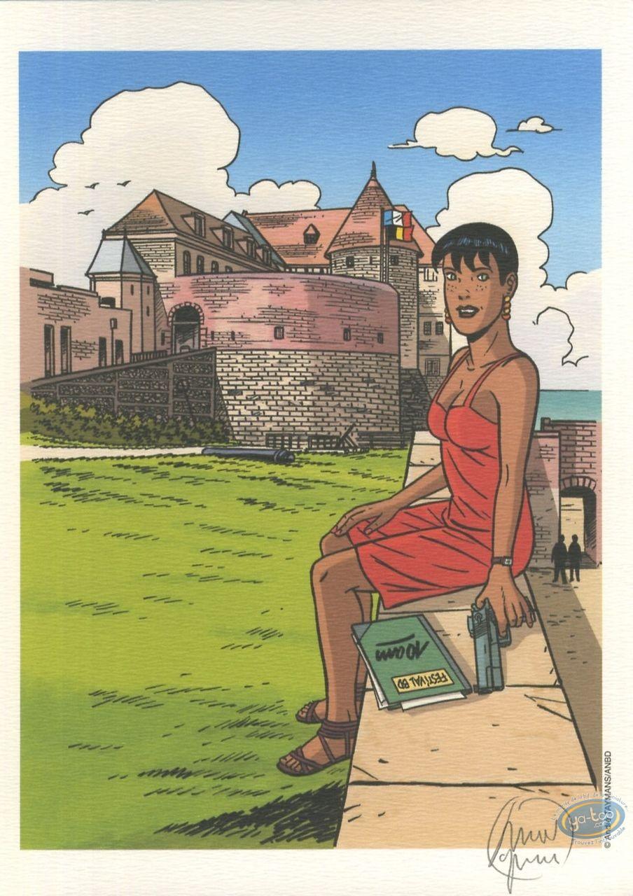 Ex-libris Offset, Caroline Baldwin : Festival de Dieppe - 10 ans