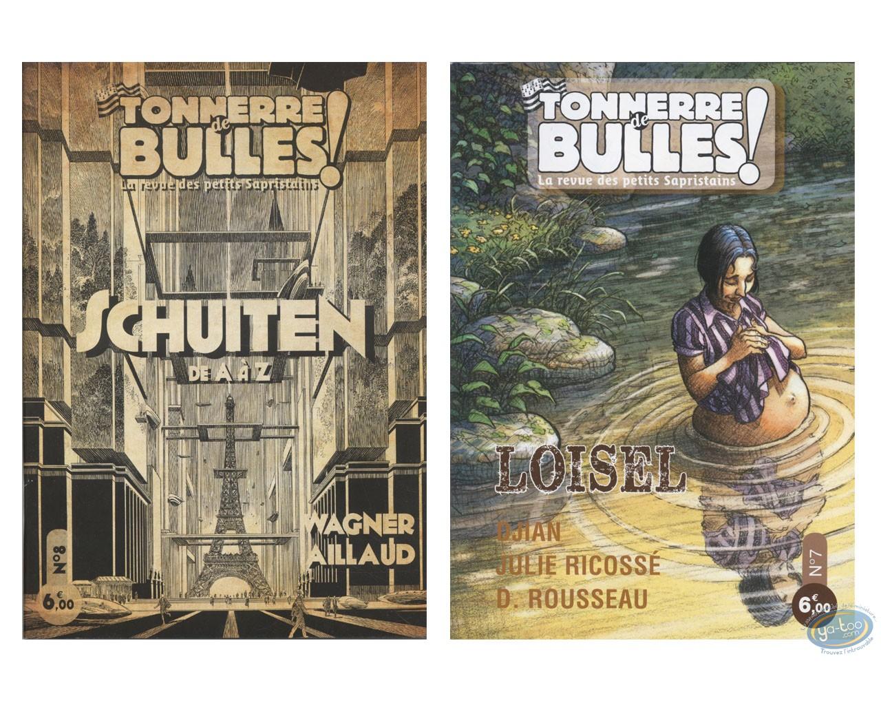 Monographie, Tonnerre de Bulles : Tonnerre de Bulles : Schuiten, Loisel, Djian, Ricossé, Rousseau, Wagner, Aillaud