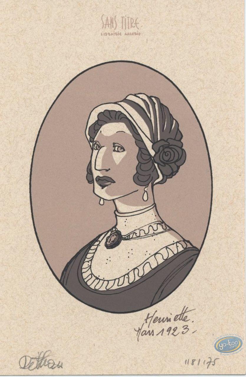 Ex-libris Sérigraphie, Henriette : Dethan, Henriette : Mars 1922