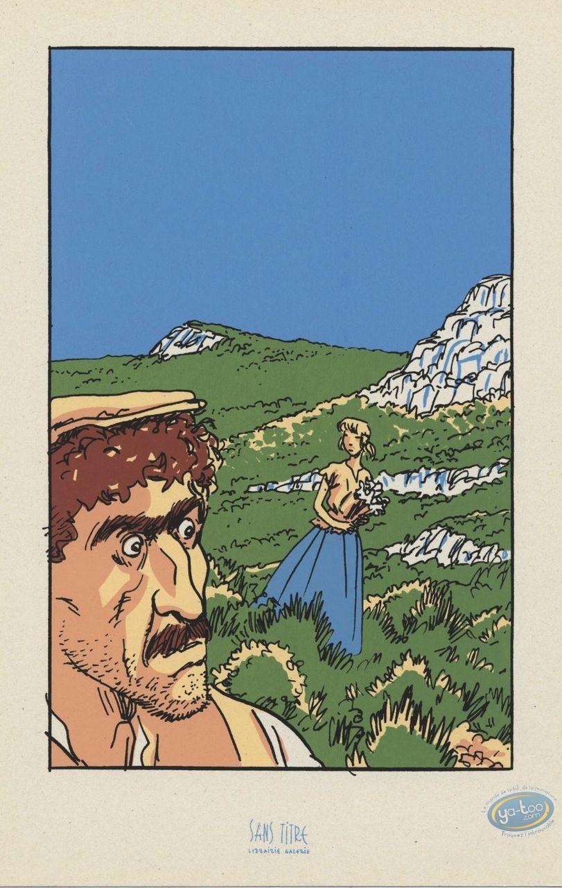 Ex-libris Sérigraphie, Eau des Collines (L') : Manon des sources
