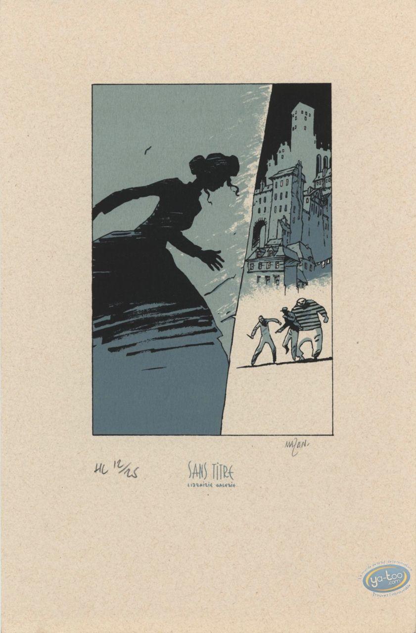 Ex-libris Sérigraphie, Hiver d'un Monde (L') : Ville basse