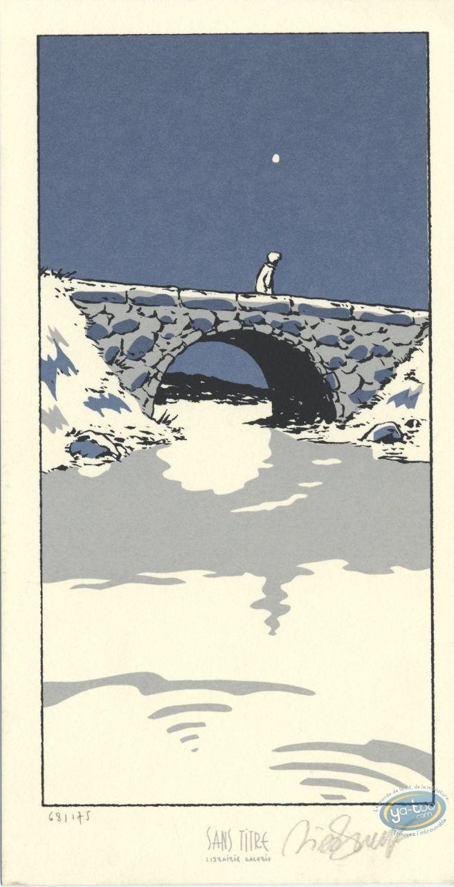 Ex-libris Sérigraphie, Petit Verglas : Pont