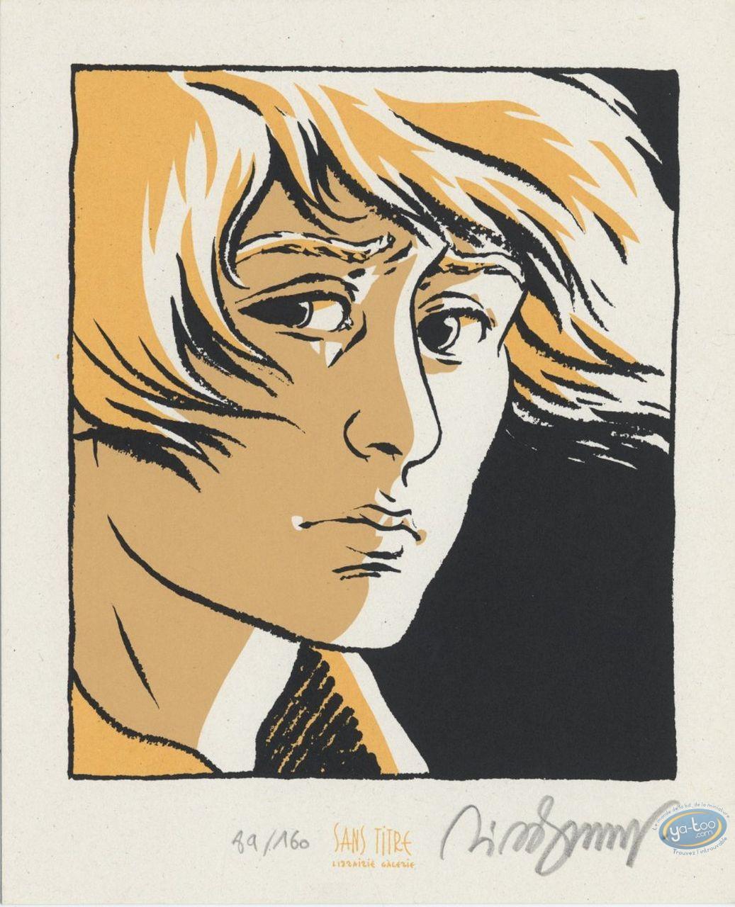 Ex-libris Sérigraphie, Petit Verglas : Visage
