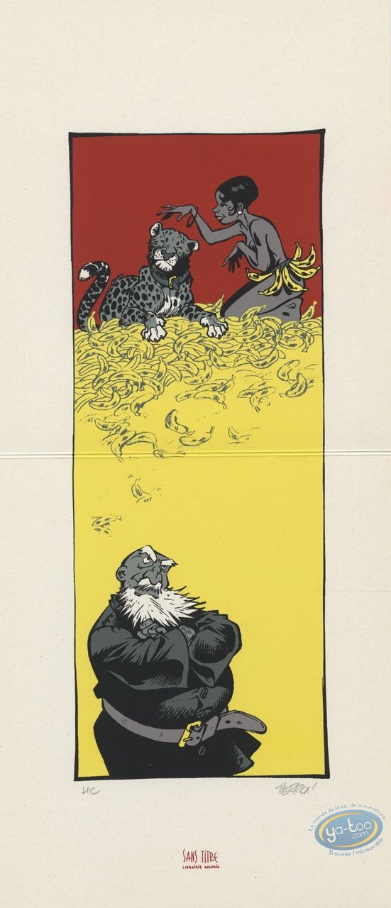 Ex-libris Sérigraphie, Odilon Verjus : Joséphine Baker et les bananes