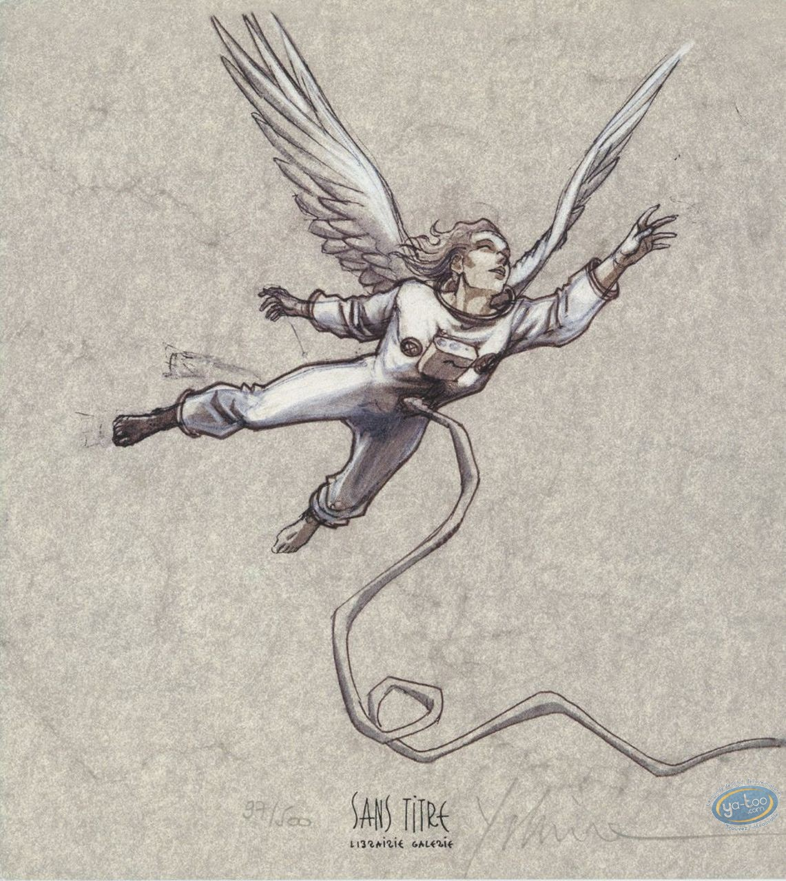 Ex-libris Offset, Xxème Ciel (Le) : Ange astronaute
