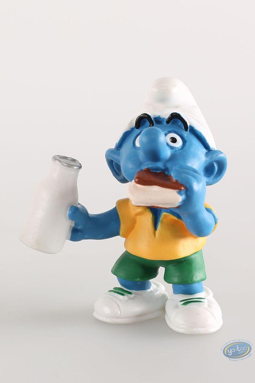 Figurine plastique, Schtroumpfs (Les) : Schtroumpf Buveur de lait