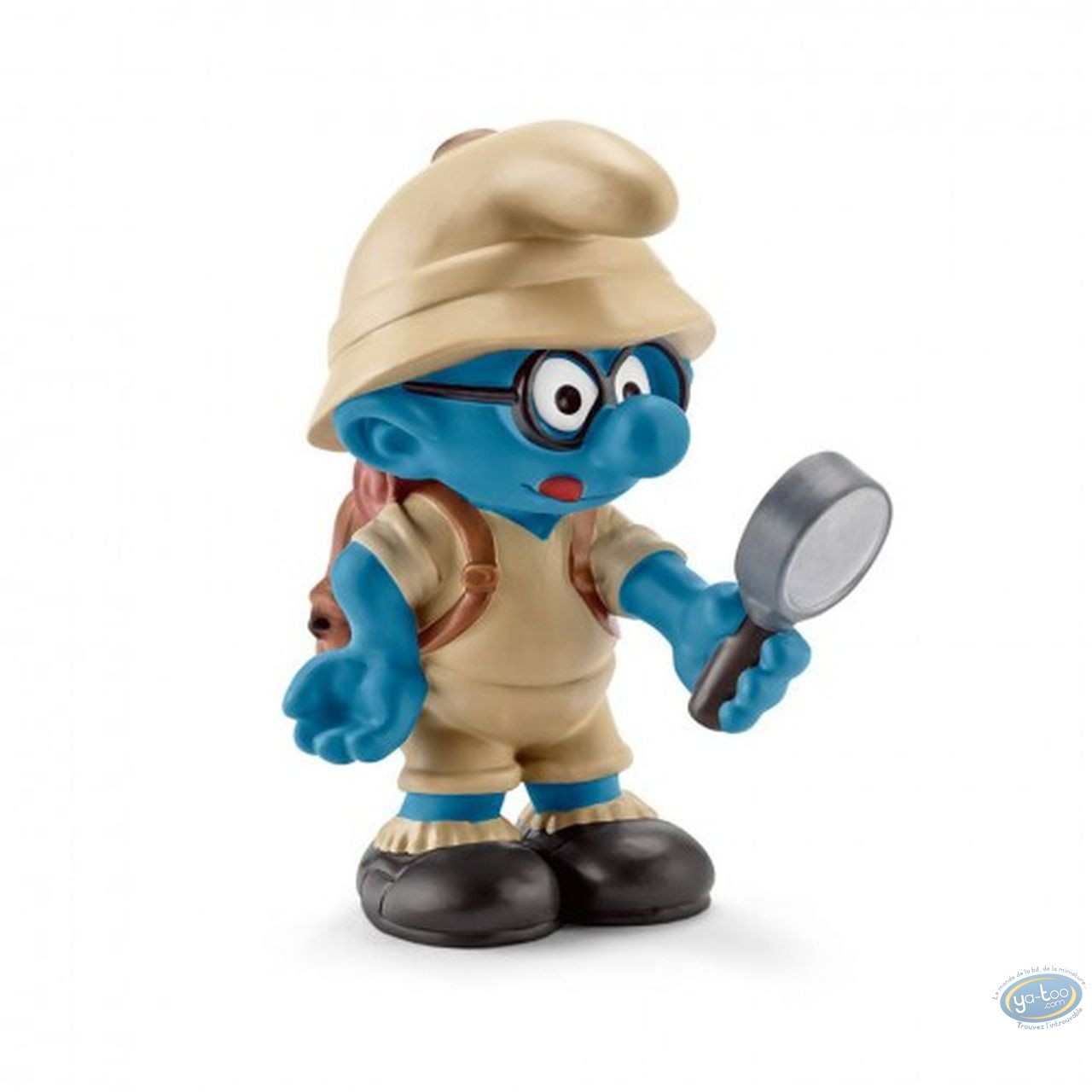 Figurine plastique, Schtroumpfs (Les) : Schtroumpf à lunettes explorateur