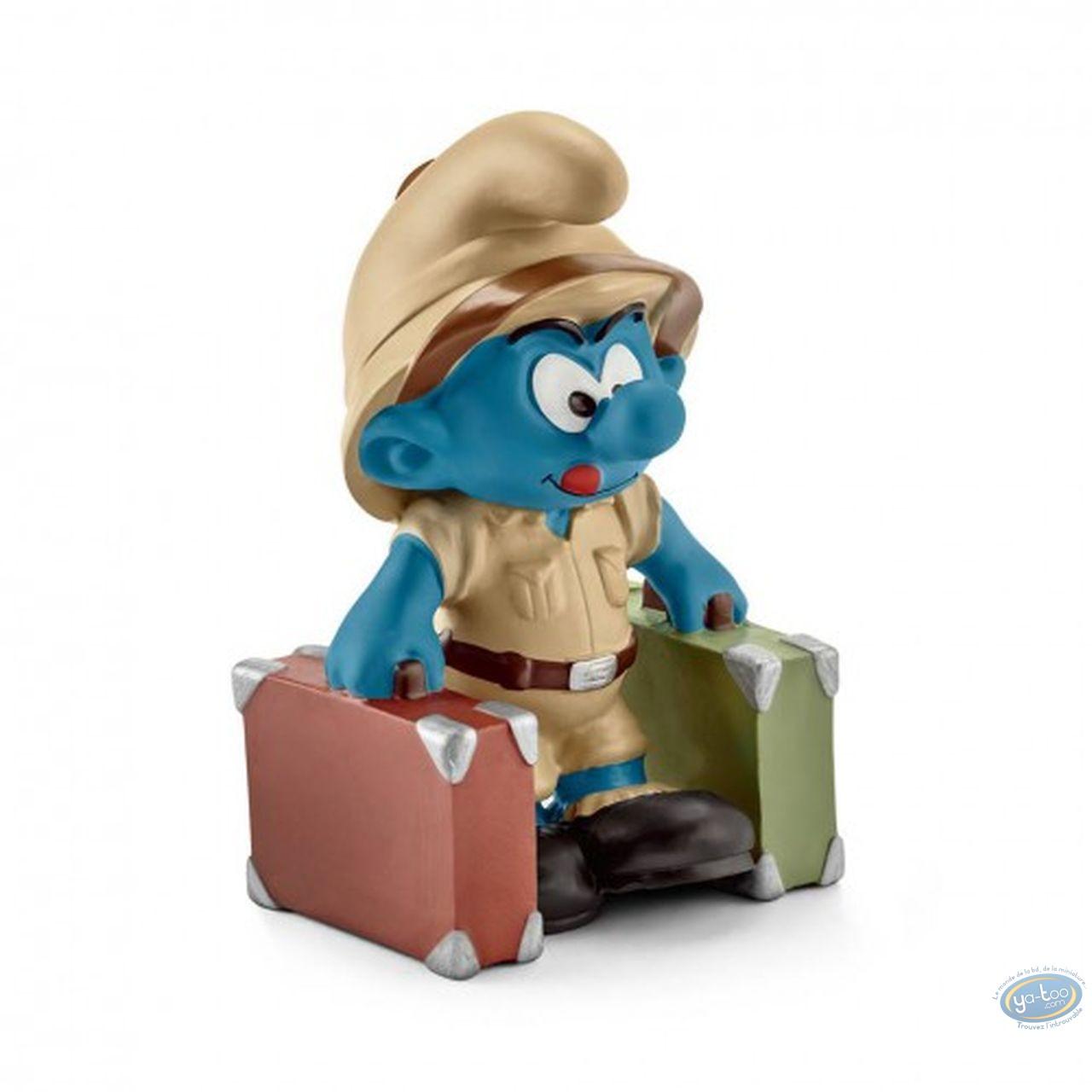 Figurine plastique, Schtroumpfs (Les) : Schtroumpf explorateur avec valises