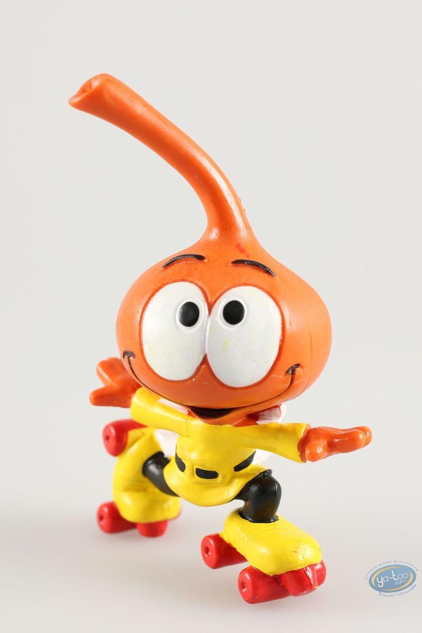 Figurine plastique, Snorkies (Les) : Jojo' Snorkie orange, fait du roller