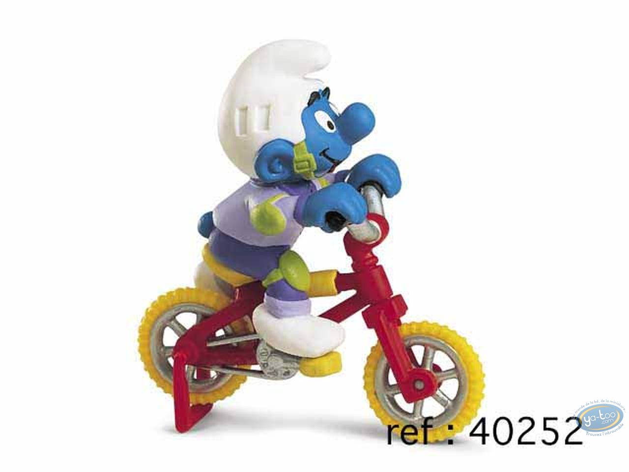 Figurine plastique, Schtroumpfs (Les) : Schtroumpf à vélo acrobatique