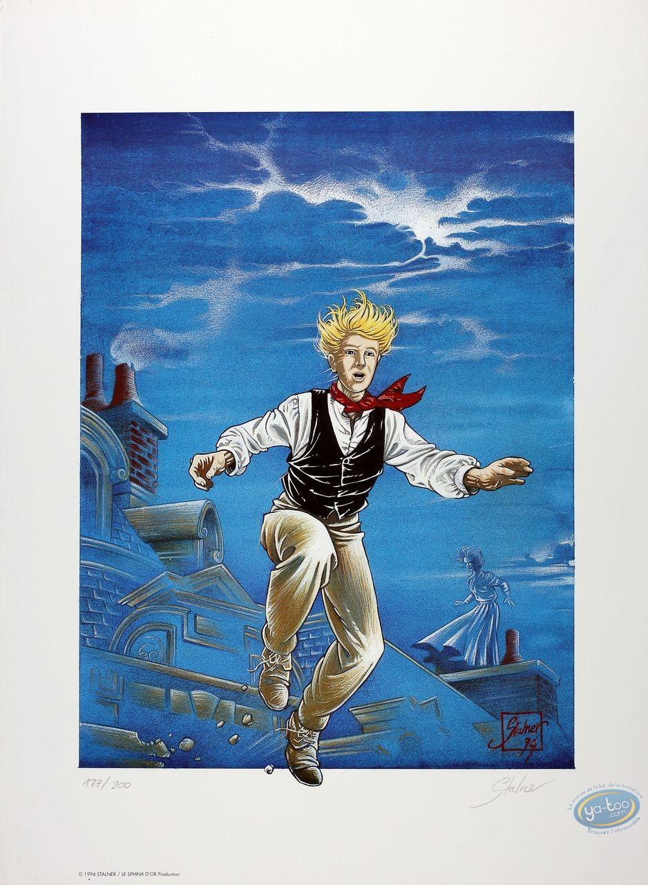Affiche Offset, Fabien M : Fabien M sautant d'un toit