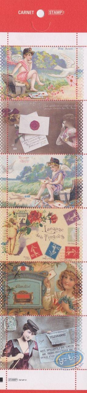 Timbre, Messages Timbrés : Planche de 6 timbres, Musée de la Poste