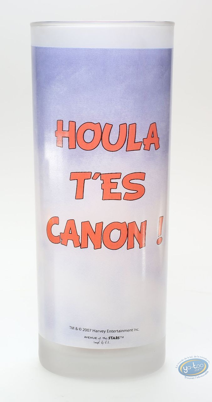 Art de la Table, Hot Stuff : Verre à eau : Hot Stuff 'Houla t'es canon'