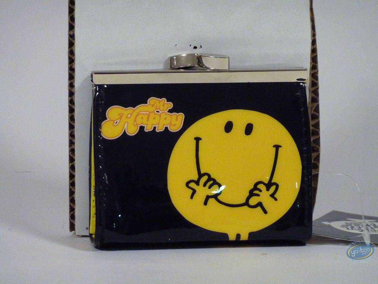 Bagagerie, Monsieur et Madame : Porte-monnaie, vinyl, Mr Happy (Noire)