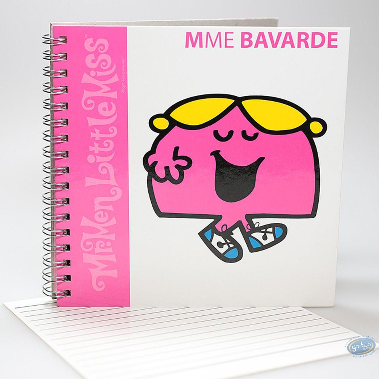 Carnet de notes, Monsieur et Madame : Carnet Spirales,  Mme Bavarde : Rose