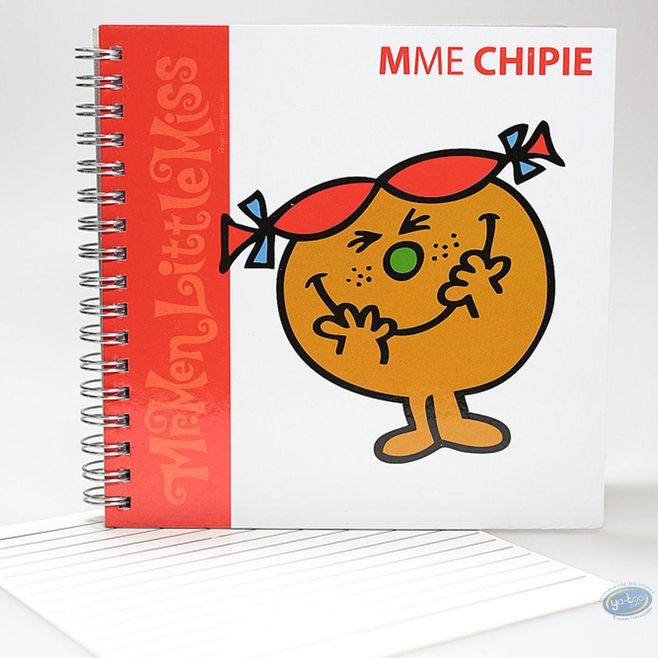 Carnet de notes, Monsieur et Madame : Carnet Spirales,  Mme Chipie : Rouge
