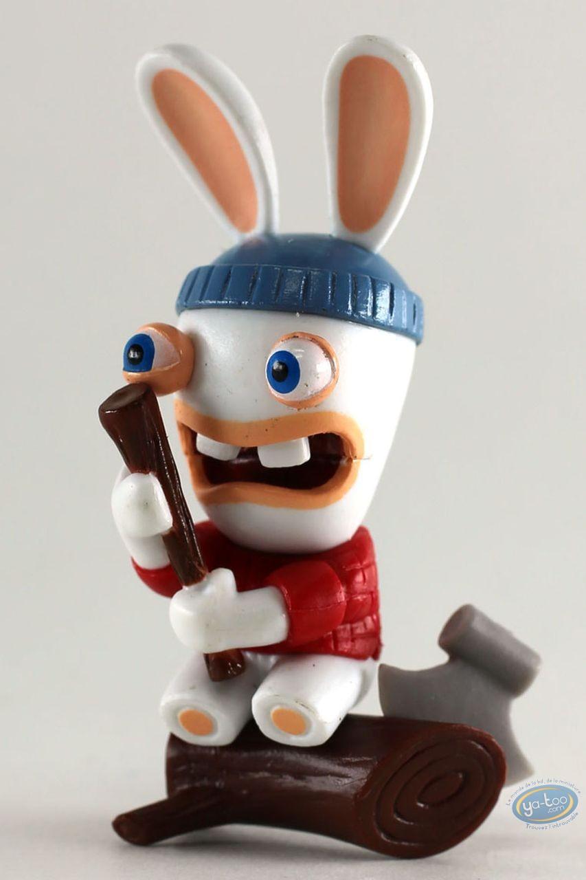 Figurine plastique, Lapins Crétins (Les) : Canada (bucheron)