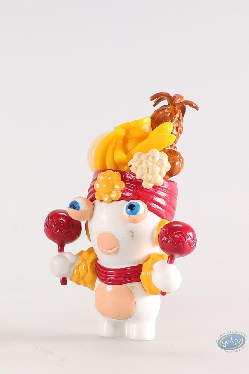 Figurine plastique, Lapins Crétins (Les) : Brésil (chapeau fruité)
