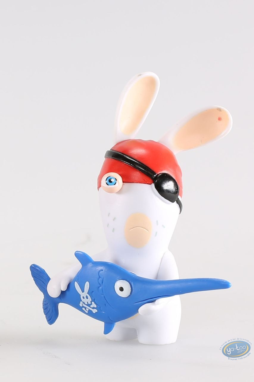 Figurine plastique, Lapins Crétins (Les) : Pirate (espadon)