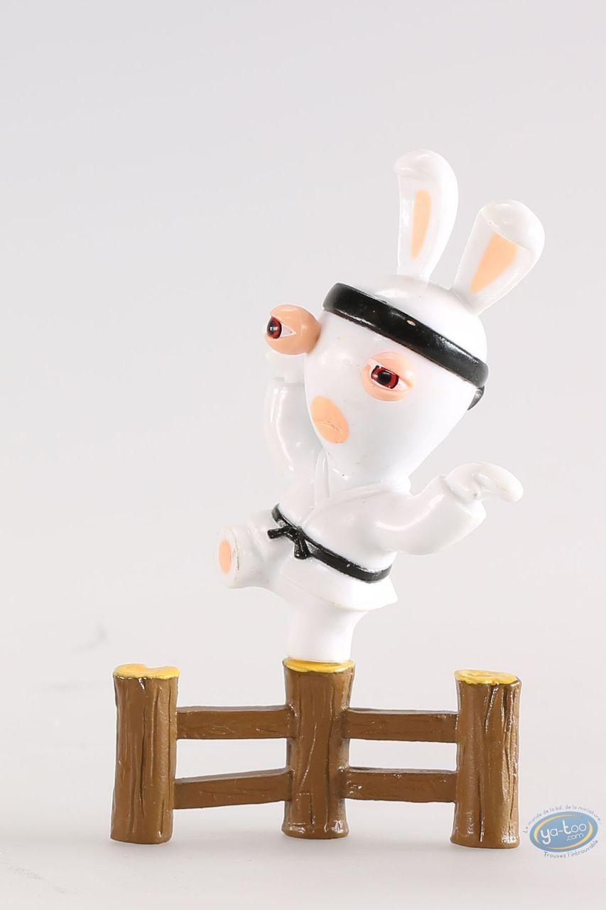 Figurine plastique, Lapins Crétins (Les) : Karatéka (barrière)