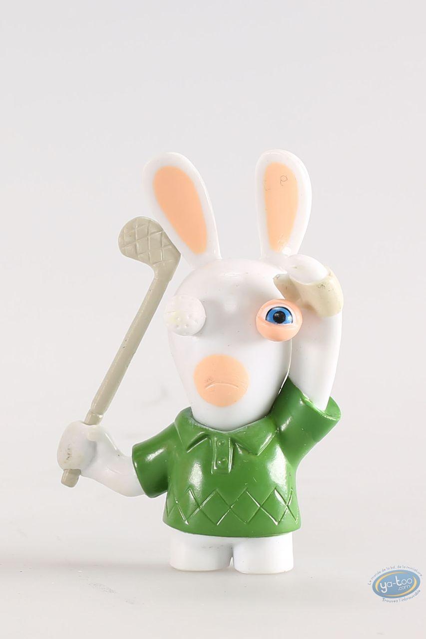 Figurine plastique, Lapins Crétins (Les) : Golfeur (oeil de golf)