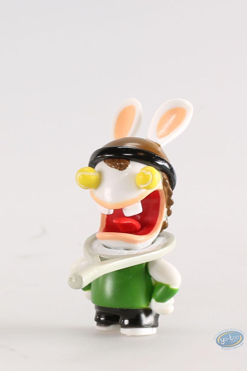 Figurine plastique, Lapins Crétins (Les) : Tennisman (regard balles de tennis)