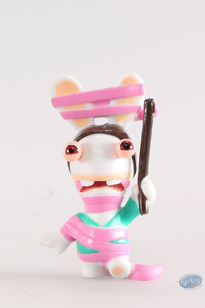 Figurine plastique, Lapins Crétins (Les) : Gymnaste rythmique (ruban rose)