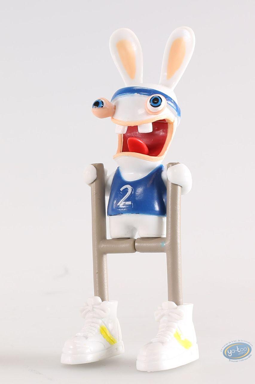 Figurine plastique, Lapins Crétins (Les) : Athlète (barrière)