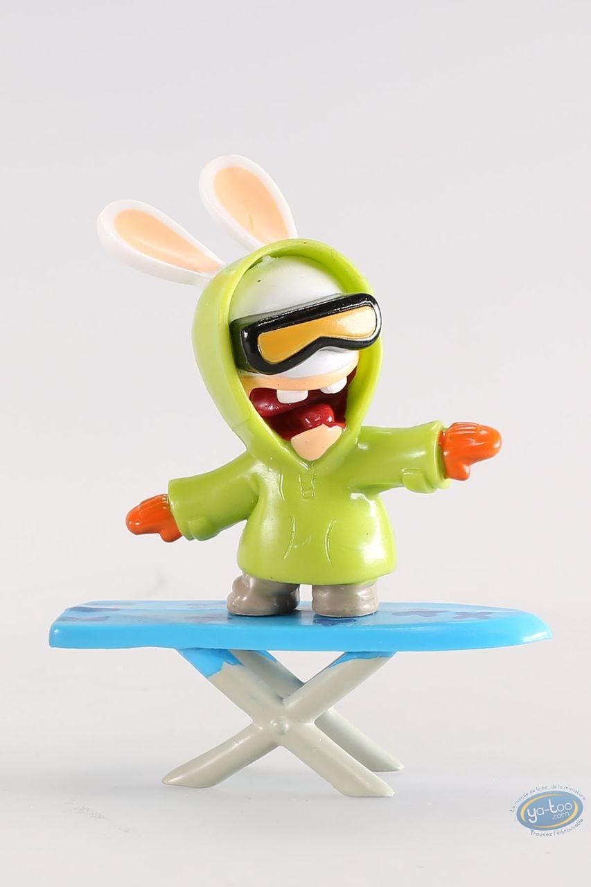 Figurine plastique, Lapins Crétins (Les) : Snowboarder (planche à repasser)