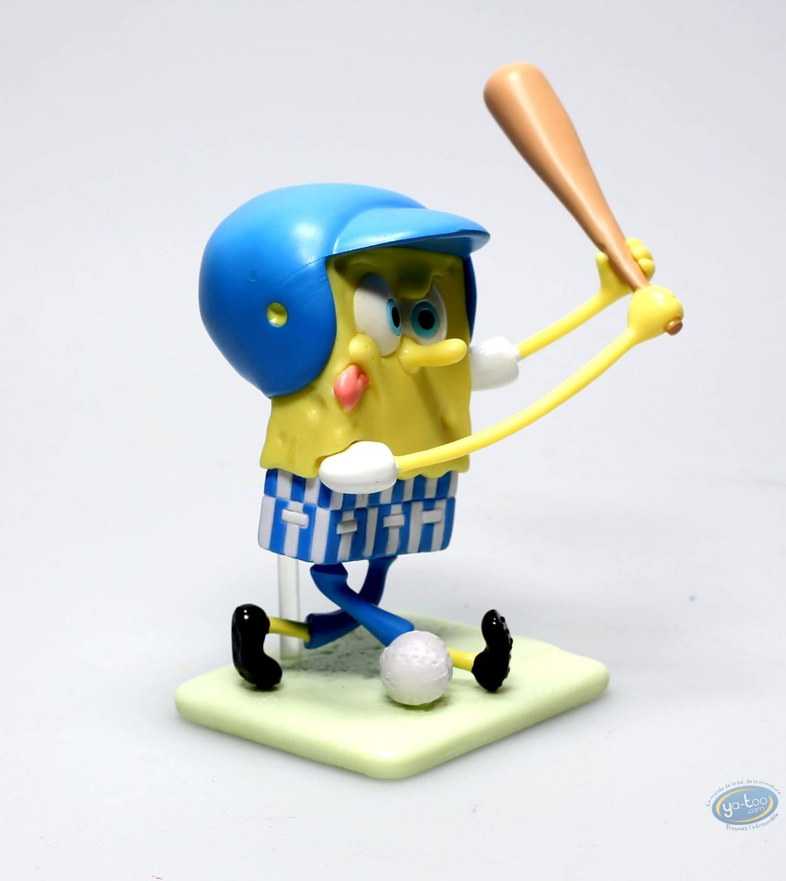 Figurine plastique, Bob l'Eponge : Bob l'éponge Base-ball