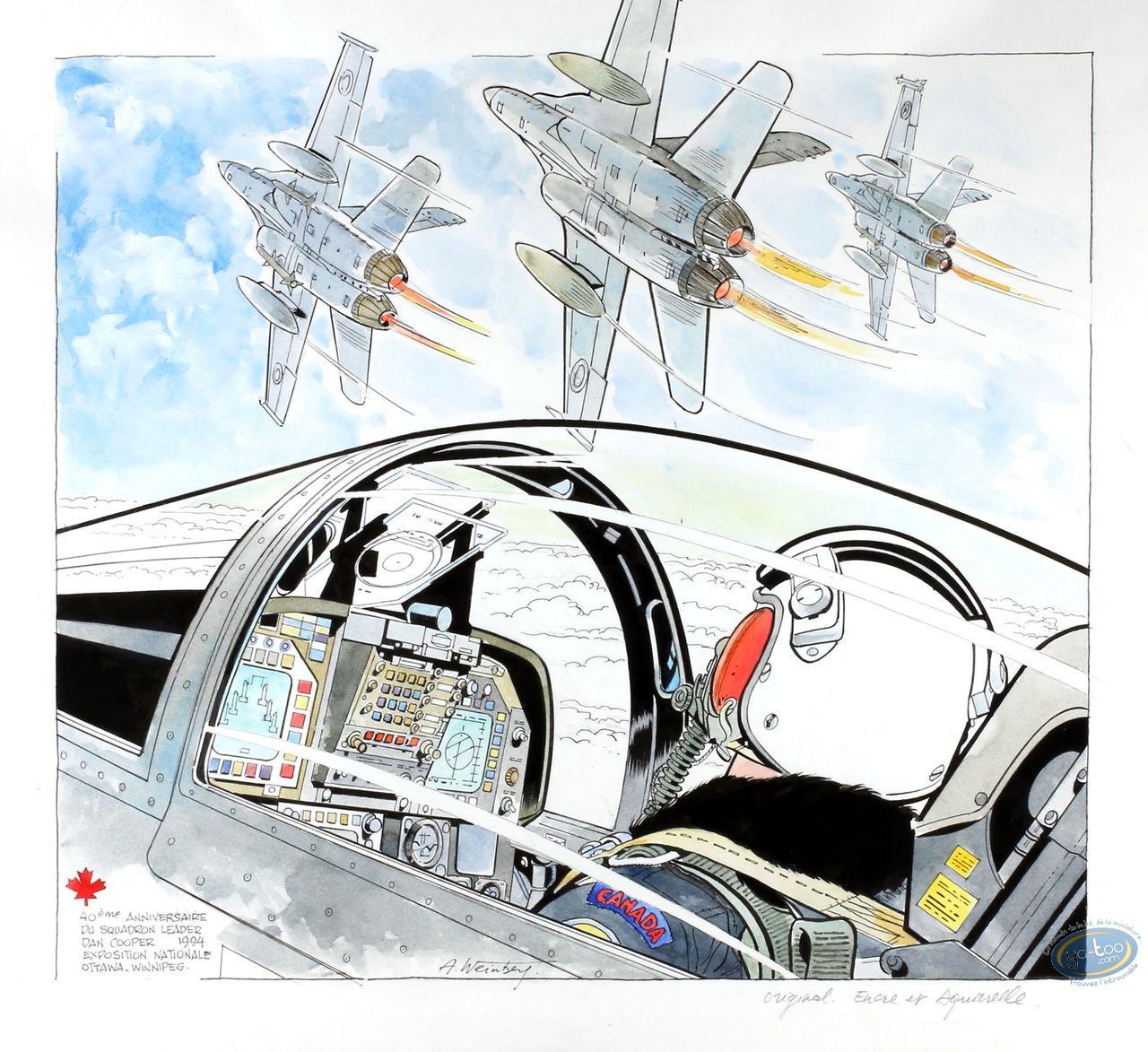 Aquarelle, Dan Cooper : Cockpit