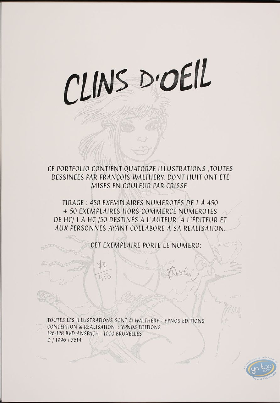 Portfolio, Pin-Up : Clins d'OEil de Walthéry