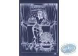 Affiche Offset, Luc Orient : Laura pluie à la fenêtre (négatif)