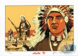 Ex-libris Sérigraphie, Black Hills : Chef indien